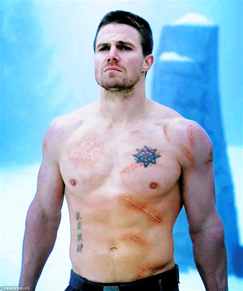 oliver queen tattoo constantine stephen amell project gif find share on giphy
