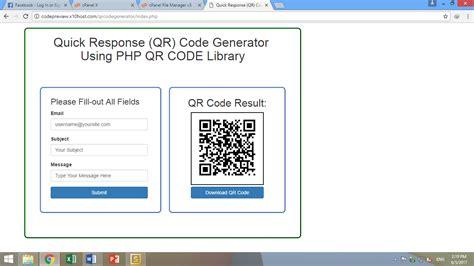 php qr code tutorial quick response qr code generator using php qr code