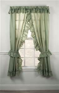Priscilla Curtains Kitchen Stacey One Rod Criss Cross Ruffled Priscilla Window Curtains With Tie Backs Window Toppers