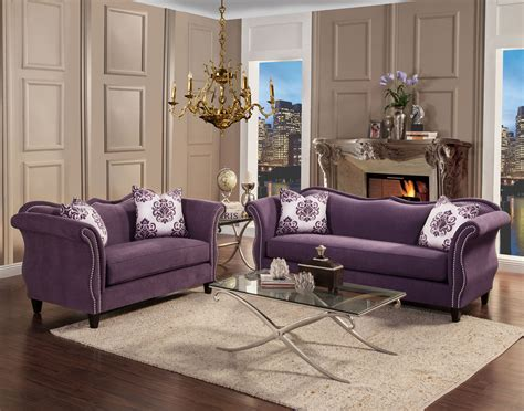 Zaffiro Lavender Fabric Living Room Las Vegas Furniture Living Room Sets Las Vegas