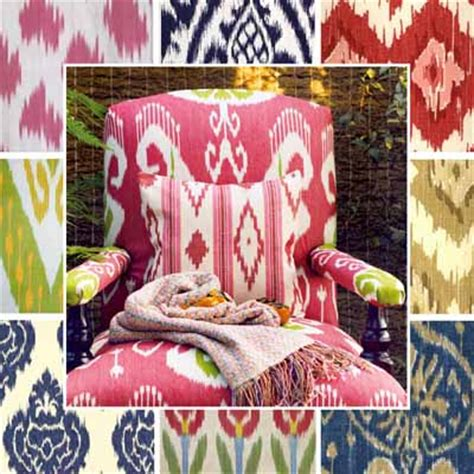 interior decorating fabric exotic ikat pattern modern interior design trends