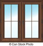 Wooden Sash Windows Window Clipart Window Frame Pencil And In Color Window