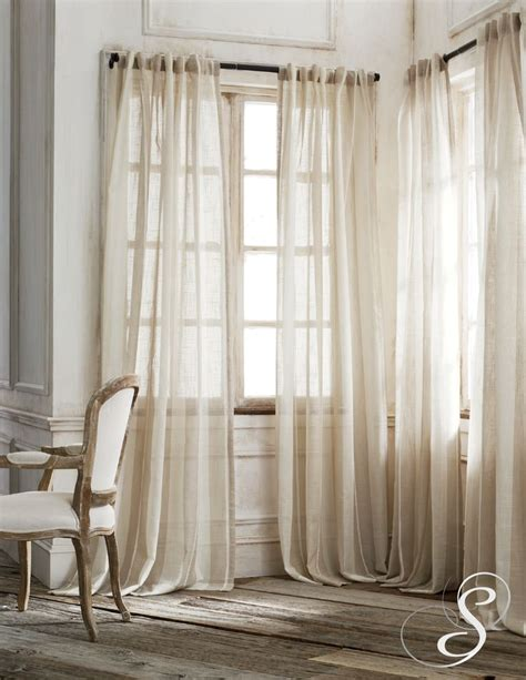 sheer burlap curtains 17 best ideas about bay windows on pinterest bay window