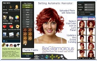 virtual hair makeover for women over 50 free virtual hairstyles for women over 50 change hair colors