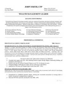 Wealth Management Advisor Sle Resume by Wealth Management Leader Resume Template Premium Resume Sles Exle