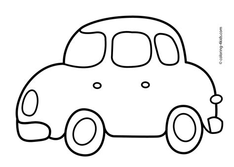 coloring pages easy simple car transportation coloring pages for