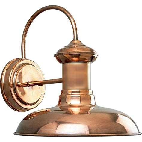 progress lighting brookside collection 1 light copper wall