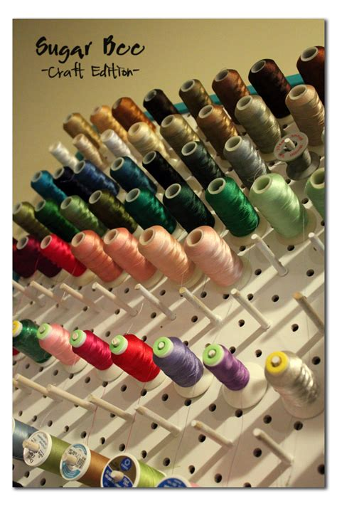 Embroidery Thread Rack by Thread Rack Tutorial Sugar Bee Crafts