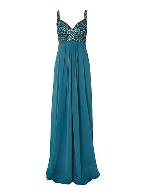 js collections beaded top chiffon dress house of fraser