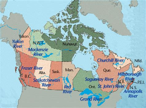 canadian map rivers canada political rivers map quotes
