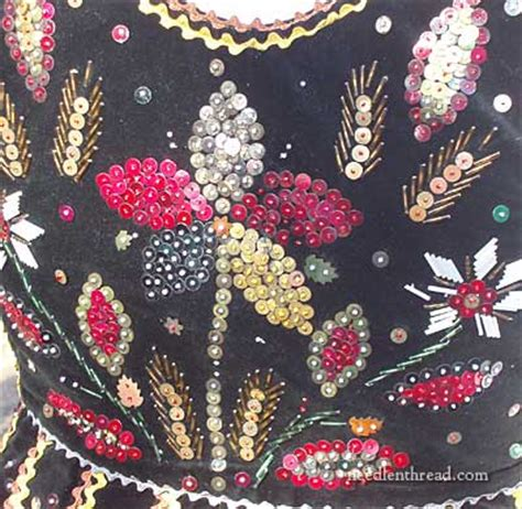 beading and sequins sequins on a vest needlenthread
