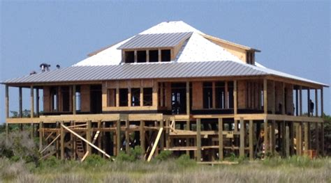 Small Beach House On Stilts Coastal Foundations The Coastal Cottage Company