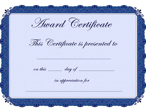 downloadable templates for award certificates free printable award certificate borders award