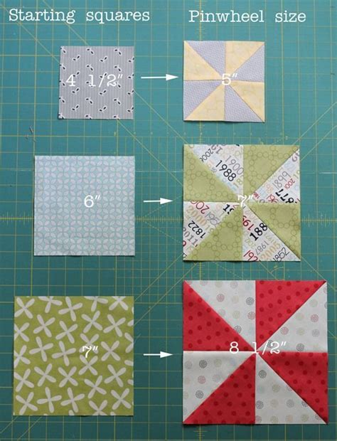 Patchwork Quilt Size Chart - pinwheel size chart pinwheel production from
