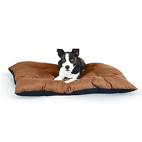 bed bath and beyond dog bed buy large thermo cushion pet bed in chocolate from bed
