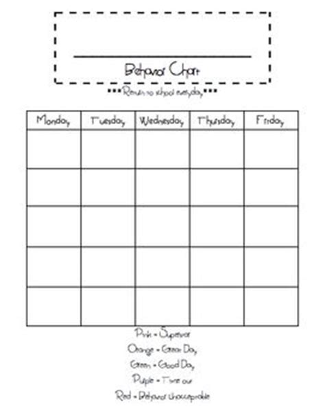 Calendar Date Comparison This Is A Blank Behavior Chart Freebie Just Fill In The