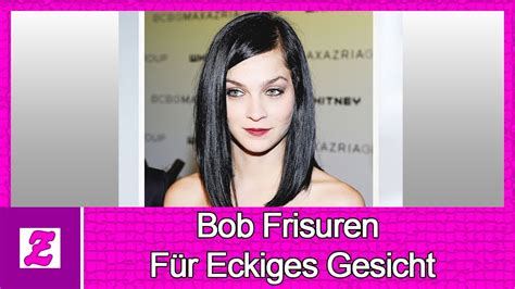 bob frisuren fuer eckiges gesicht ideen youtube
