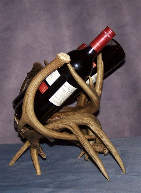 antler wine rack real whitetail antler wine rack by cdn chandelier ebay