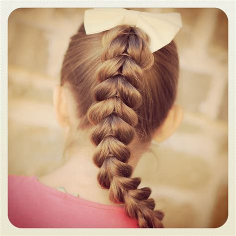 easy girls hairdo pull through braid easy hairstyles cute girls hairstyles