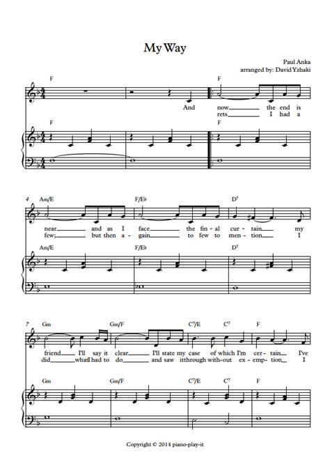 piano tutorial way way frank sinatra my way piano tutorial