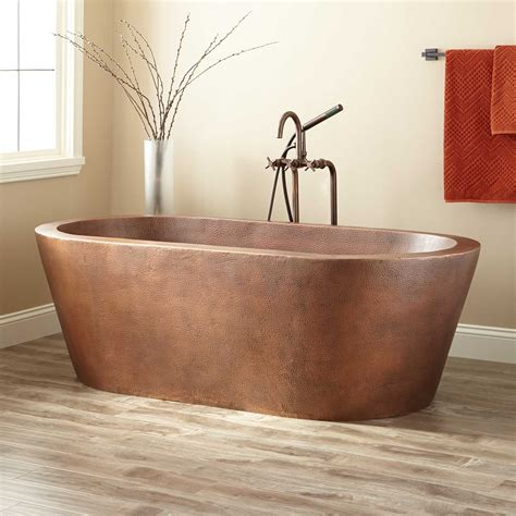 copper bathtub 69 quot collette hammered copper freestanding tub bathroom