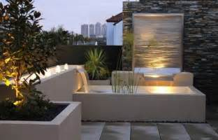 modern water feature outdoor decor landscaping rumah minimalis