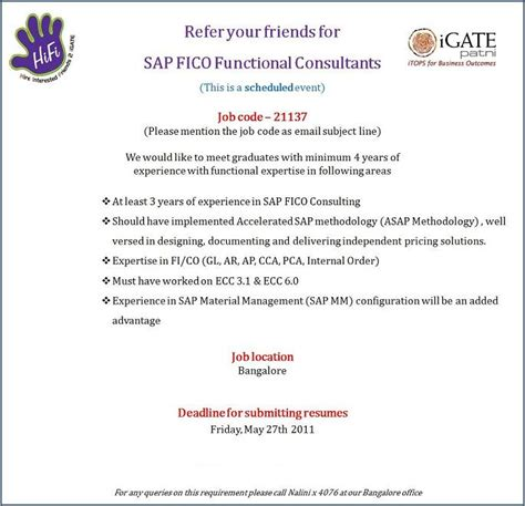 Experience Letter In Bangalore Sap Exclusive May 2011