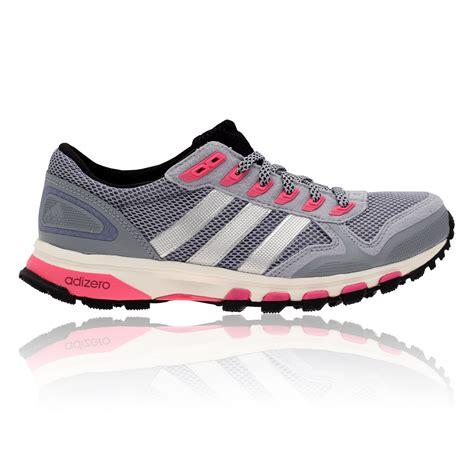 adidas adizero xt5 womens grey pink light trail running shoes trainers new ebay