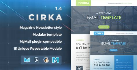 cirka responsive email template by nutzumi themeforest