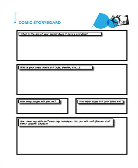 layout storyboard 5 comic storyboard free sle exle format download
