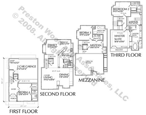 three story townhouse floor plans 3 story townhouse with mezzanine