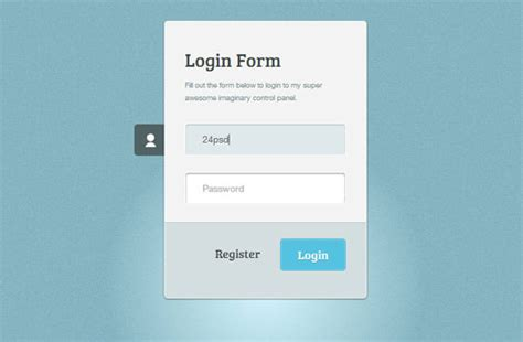 The 25 Best Free Login Form Templates Smashing Buzz Login Form Template