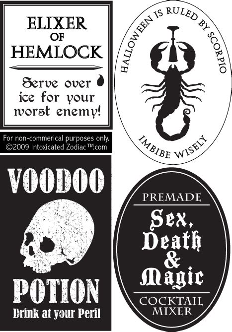 printable drink tags halloween printable printable halloween bottle labels
