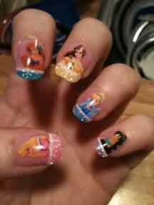 pretty disney princess nail art nail art design from