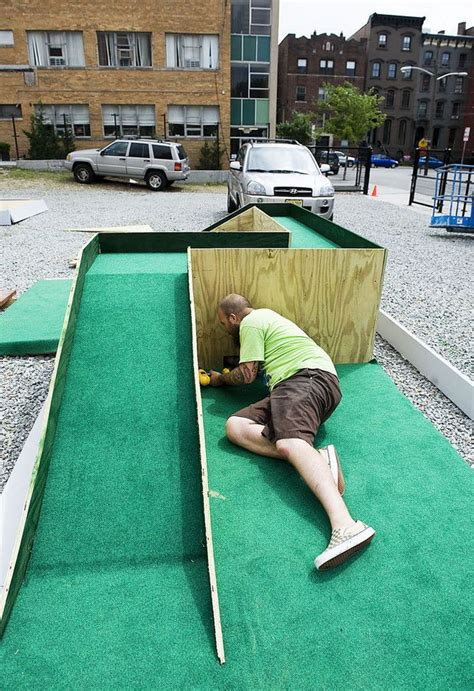 backyard putt putt course artists build mini golf course for jersey city museum