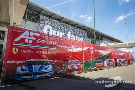 AF Corse paddock area at 24 Hours of Le Mans