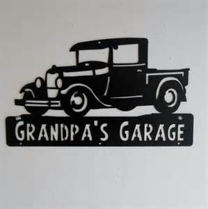 Ford Garage Signs 1928 1929 Ford Truck Cave Classic Model A Garage