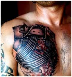biomechanical chest tattoo designs biomechanical ideas biomechanical designs