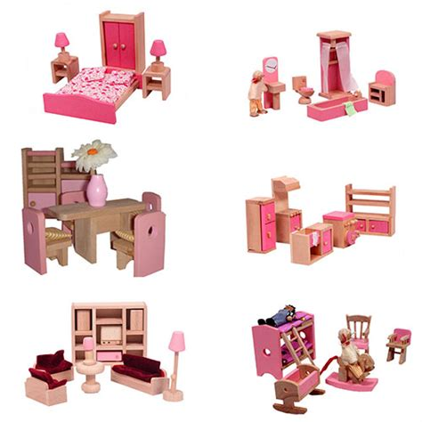 pink dolls house furniture brand new beautiful pink victorian wooden dolls house 40 furniture 4 dolls ebay
