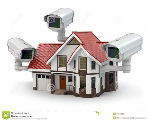 the camera house security cctv camera on the house stock illustration illustration of electronics