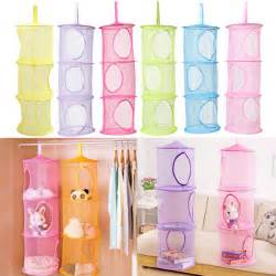 wall organizer for bedroom 3 shelf hanging storage net kids toy organizer bag bedroom