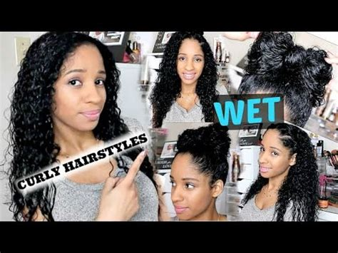 banquet hair do with wet and wavy hair for african americans 5 wet curly hairstyles i back to school youtube