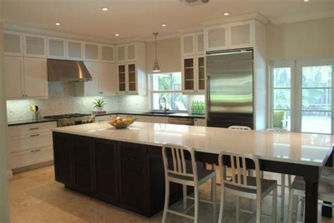 kitchen island with table combination 30 kitchen islands with tables a simple but clever combo