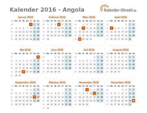 Kalender 2016 Jahres Bersicht Feiertage 2016 Angola Kalender 220 Bersicht