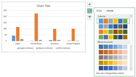 color palette exles chart styles in the new microsoft office office blogs