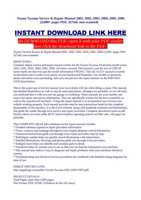 toyota tacoma service repair manual 2001 2002 2003 2004 download best manuals toyota tacoma service repair manual 2001 2002 2003 2004 2005 2006 by vorrax vorrax issuu
