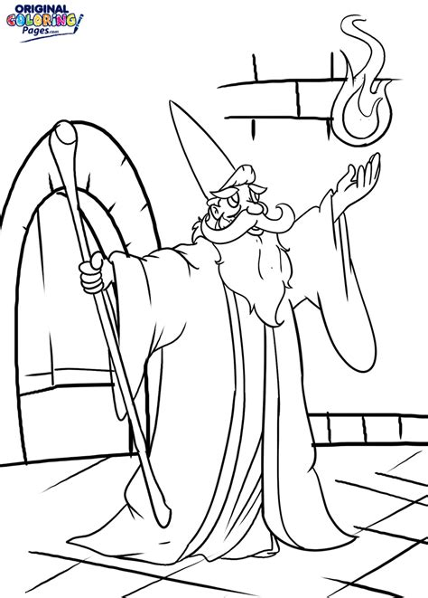 wizards coloring pages original coloring pages