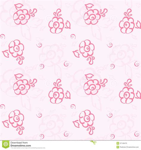 wallpaper doodle pink seamless floral pastel pattern royalty free stock photo