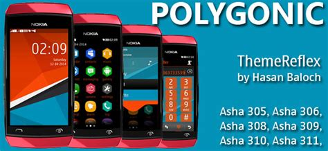 best themes for nokia asha 310 polygonic theme for nokia asha 305 asha 306 asha 308