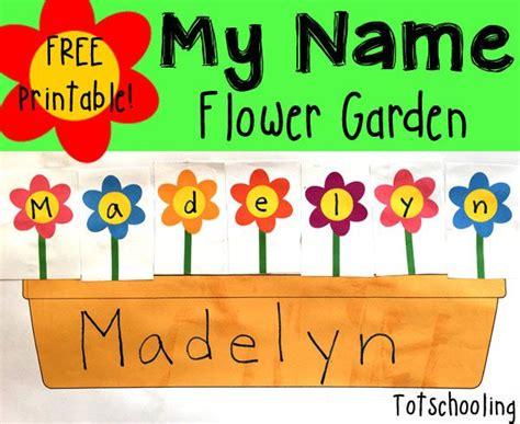 name recognition flower garden tot school preschool